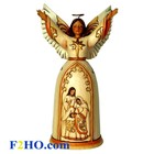 Jim Shore's Heartwood Creek Ivory and Gold Navity Angel