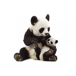 Country Artists Giant Panda & Cub Loving Embrace