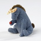 Classic Pooh (BO) Eeyore w. Ladybug (knitted)