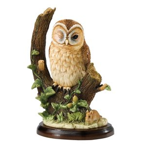 Border Fine Arts Tawny Owl with Mouse