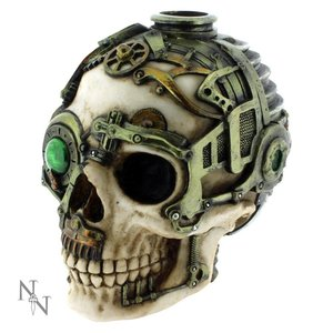 Anne Stokes Steampunk Skull Candle Holder