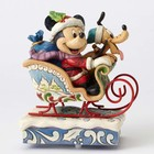 Disney Traditions Mickey & Pluto in Sleigh