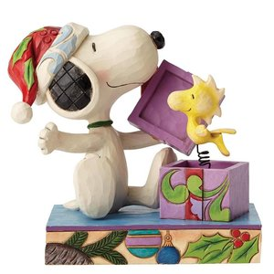 Peanuts (Jim Shore) A Christmas Surprise (Snoopy and Woodstock)
