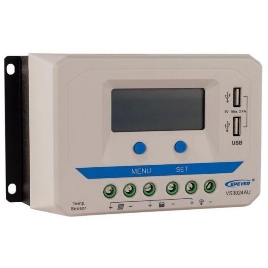 PWM laadregelaar VS3024AU Display 30 A