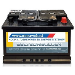 Accuweb Gel accu 12 Volt 60 Ah