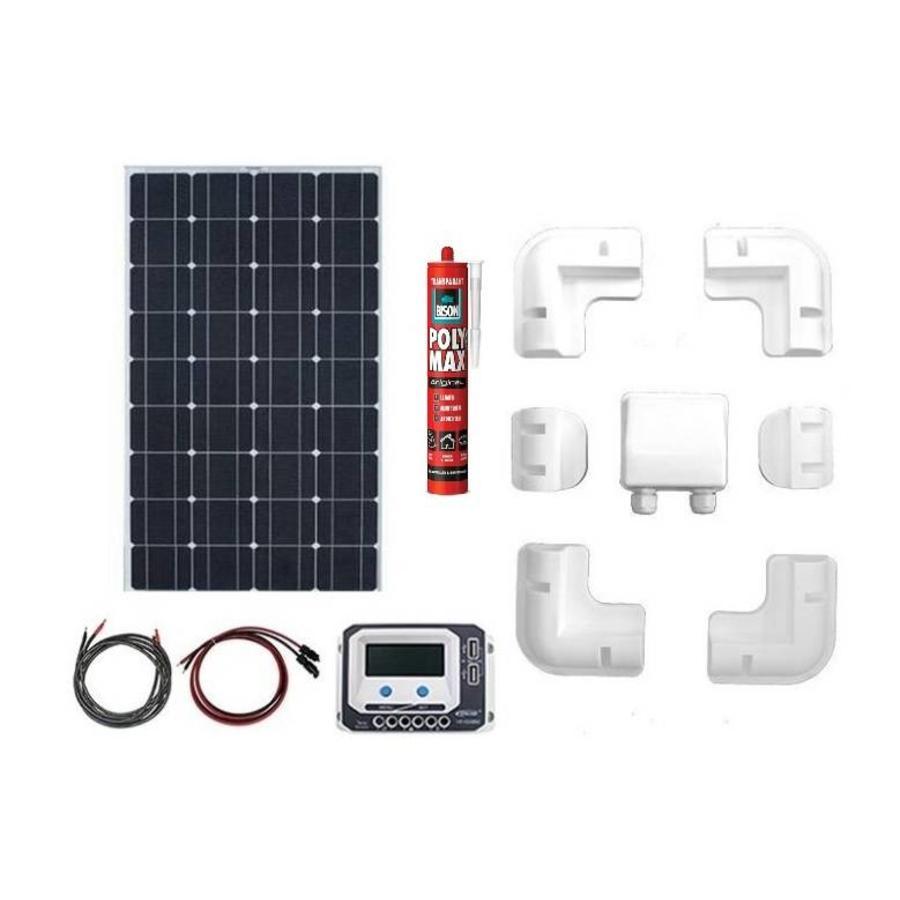 Zonnepaneelset Enjoy Solar compleet 100 Watt 12 Volt