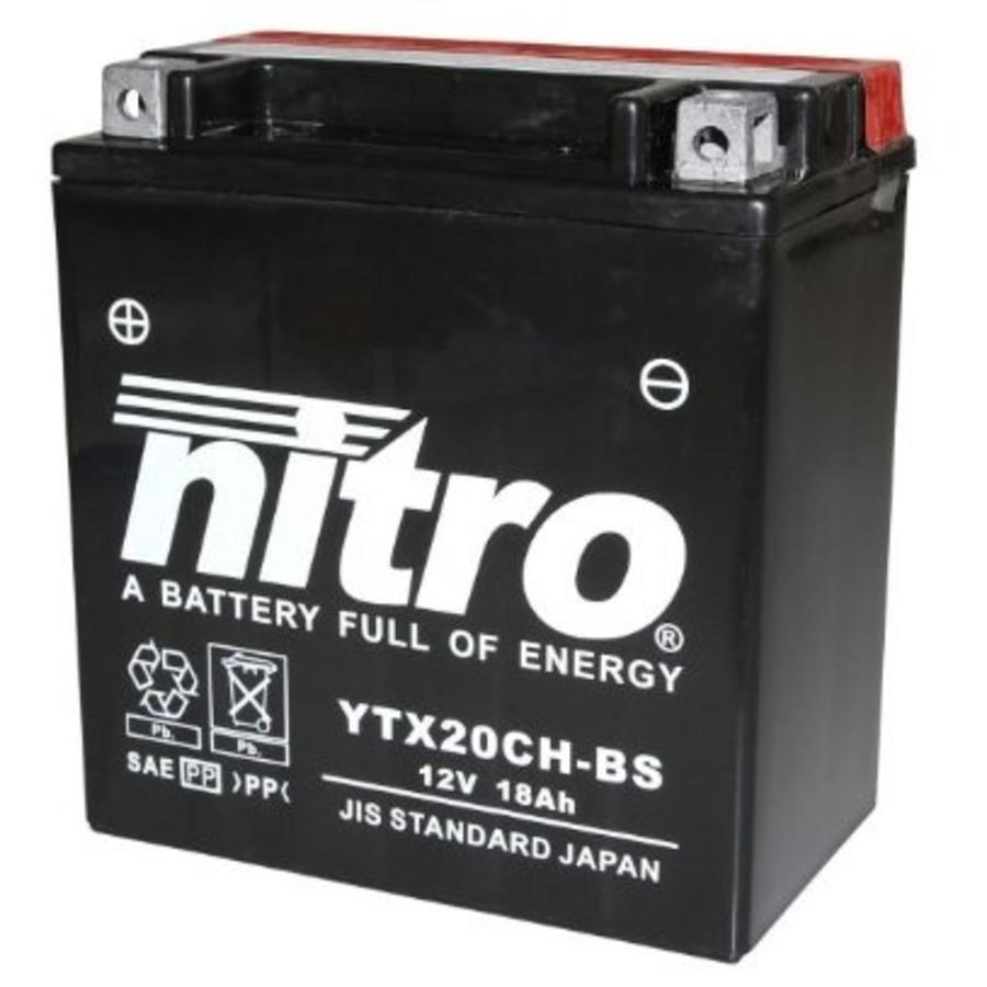 Nitro AGM accu 12 Volt 18 Ah YTX20CH-BS / CTX20CH-BS / ETX20CH-BS