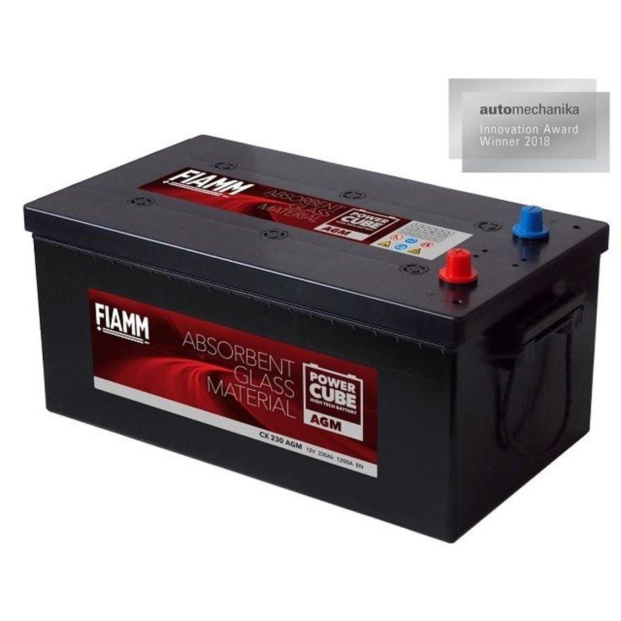 Fiamm POWERCUBE professional AGM semi-tractie / solar accu: CX 230 AGM, 12V 230Ah