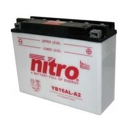 Motor accu Nitro 12 Volt 16 Ah + pool rechts YB16AL-A2