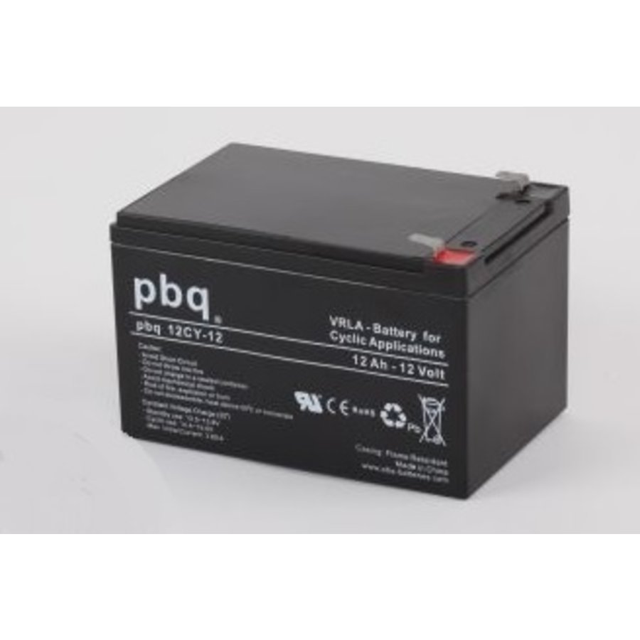 PBQ Deep Cycle AGM accu 12 Volt 12 Ah
