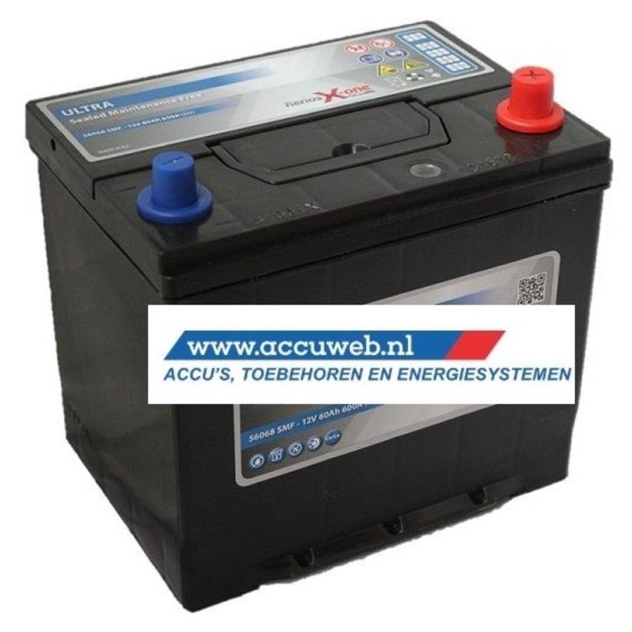Startaccu DC Power 12 Volt 60 Ah + Rechts (56068)