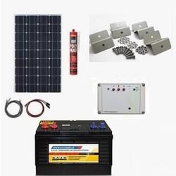 Solar Sproeisysteem 120 Watt, accu 105 Ah