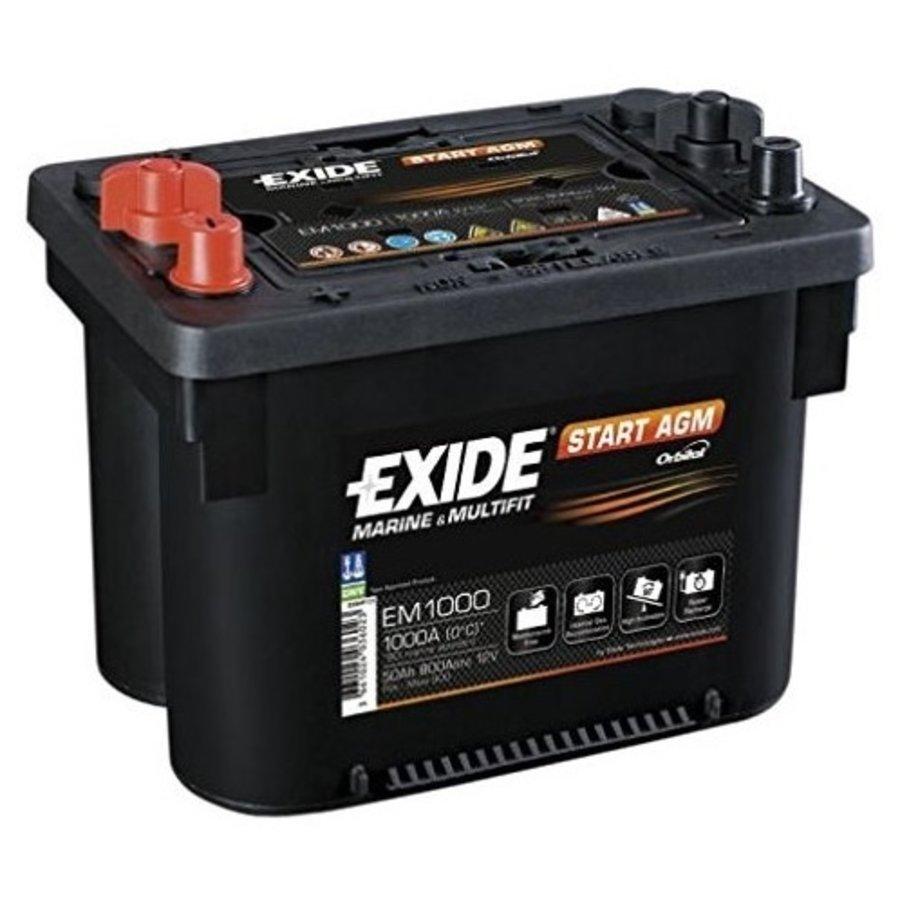 Exide Startaccu AGM EM1000 12 Volt 50 A