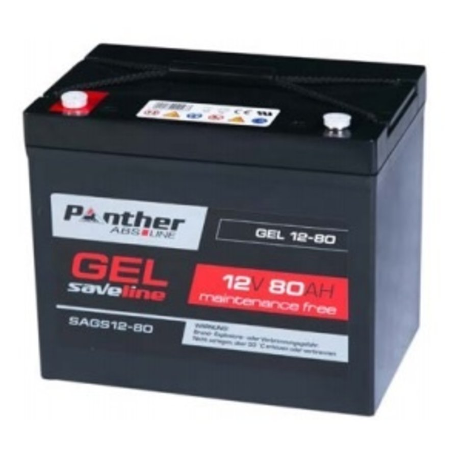 Panther Saveline Gel accu 12 Volt 80 Ah