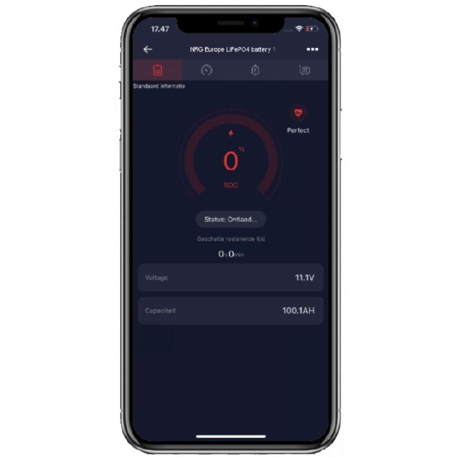 NRG LiFePO4 Lithium Batterij 12,8 Volt 200Ah 2560Wh