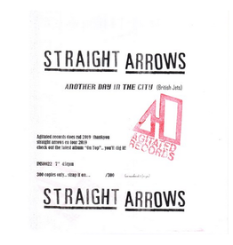Agitated Records Straight Arrows - Another Day In The City