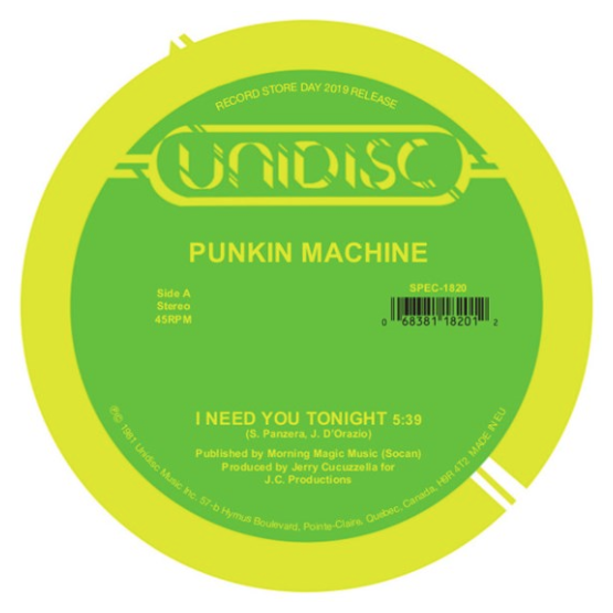 Record Store Day Punkin Machine / Suzy Q - I Need You Tonight / Tonight