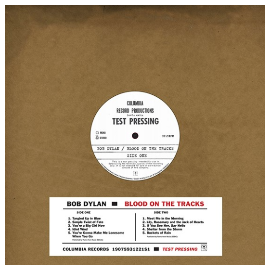 Record Store Day Bob Dylan - Blood On The Tracks: Original New York Test Pressing