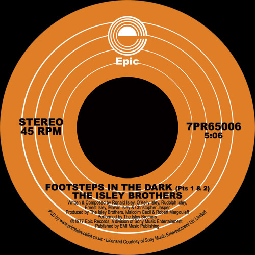 Epic The Isley Brothers - Footsteps in the Dark, Pts. 1 & 2 / Between the Sheets
