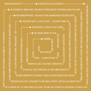 Arc Light Editions Martin Bartlett - Anecdotal Electronics: Live experiments & other recordings