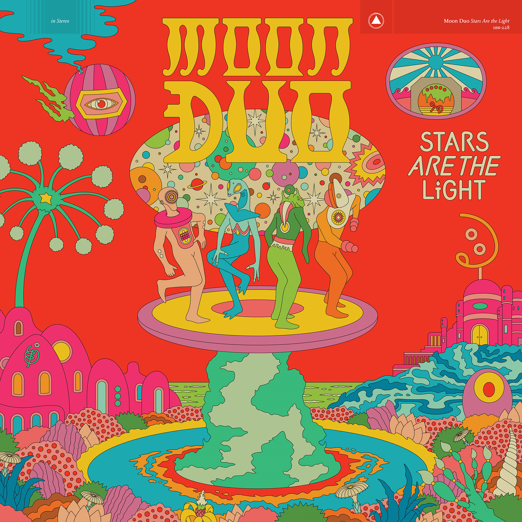 Sacred Bones Records Moon Duo - Stars Are The Light (Coloured Vinyl)