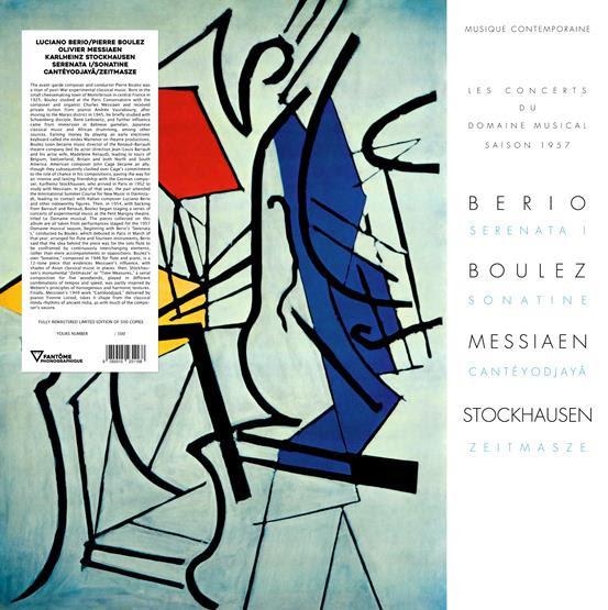 Fantome Phonographique Luciano Berio / Pierre Boulez / Olivier Messiaen / Karlheinz Stockhausen - Serenata I / Sonatine / Cantéyodjayâ / Zeitmasze