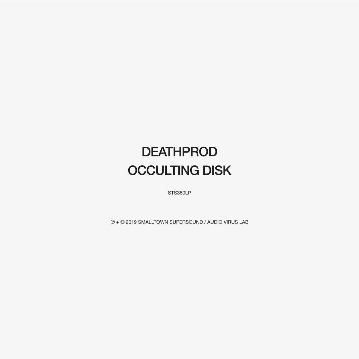 Smalltown Supersound Deathprod - Occulting Disk