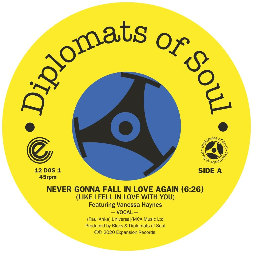 Expansion Records Diplomats Of Soul - Never Gonna Fall In Love Again (Like I Fell In Love With You)