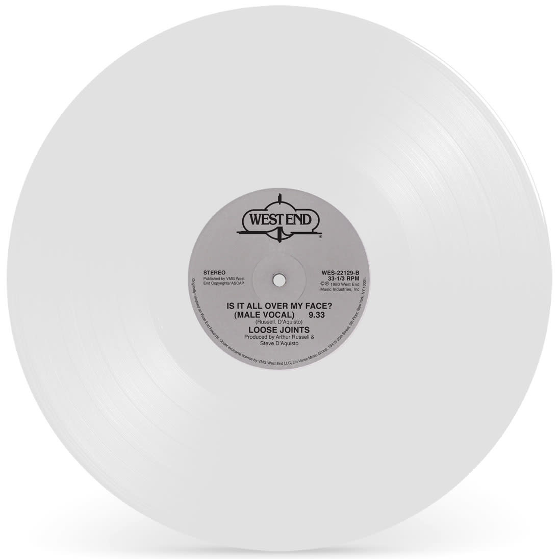 West End Records Loose Joints - Is It All Over My Face (White Vinyl)