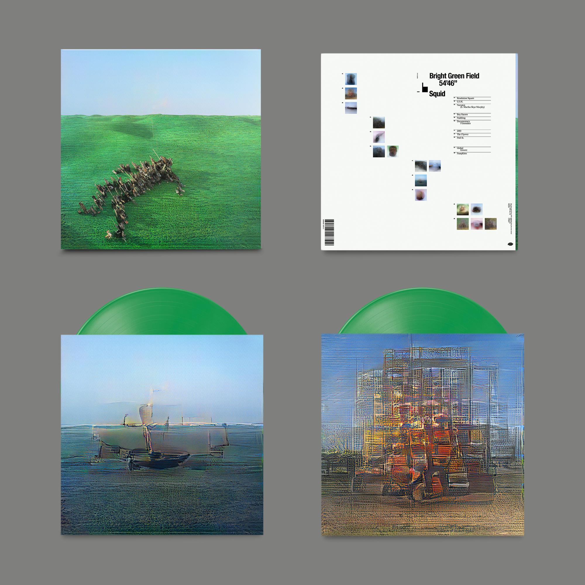 Warp Records Squid - Bright Green Field (Coloured Vinyl)