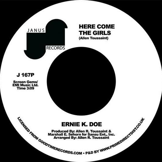 Janus Ernie K. Doe - Here Come The Girls / Back Street Lover