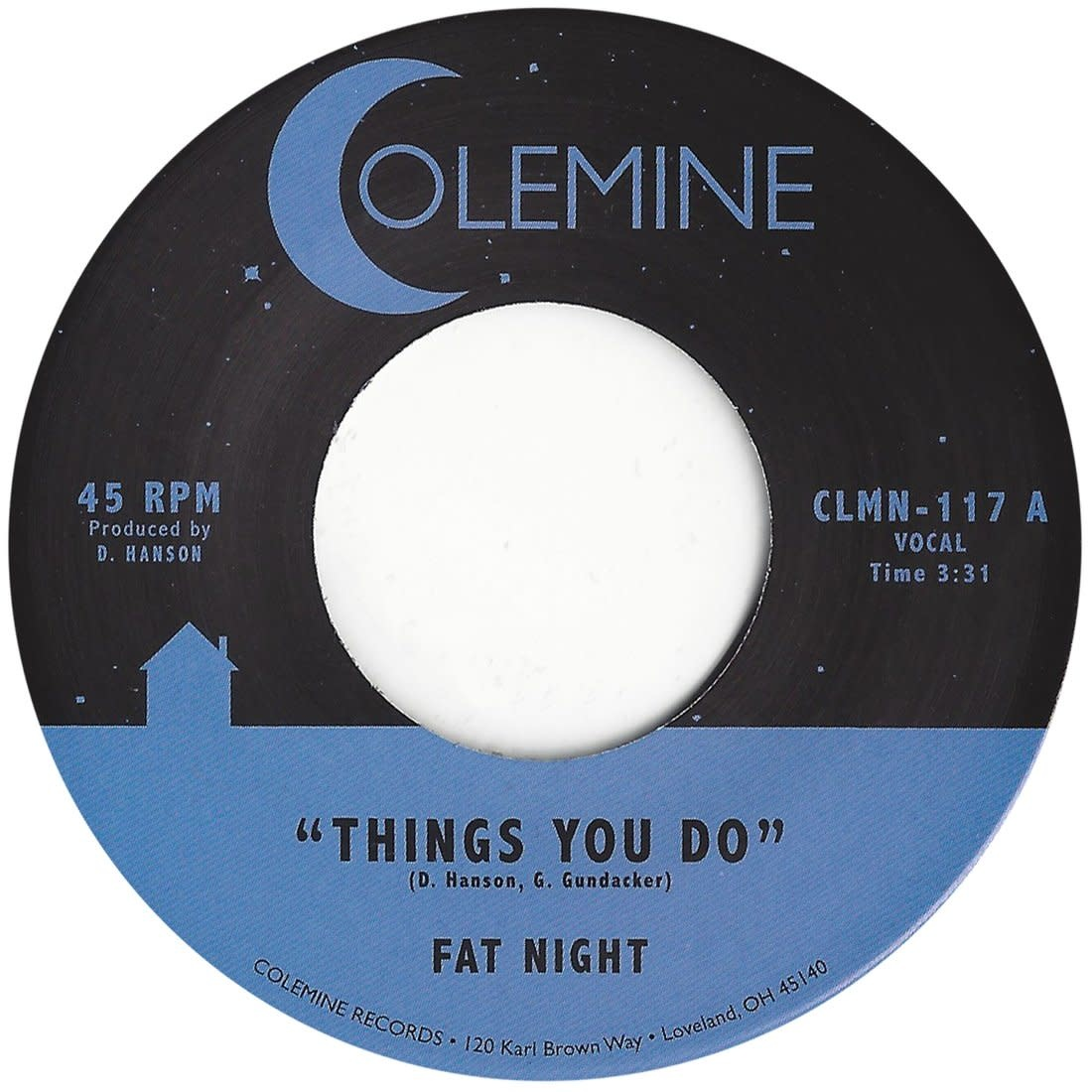 Colemine Records Fat Night - Things You Do / Things You Do (instrumental)