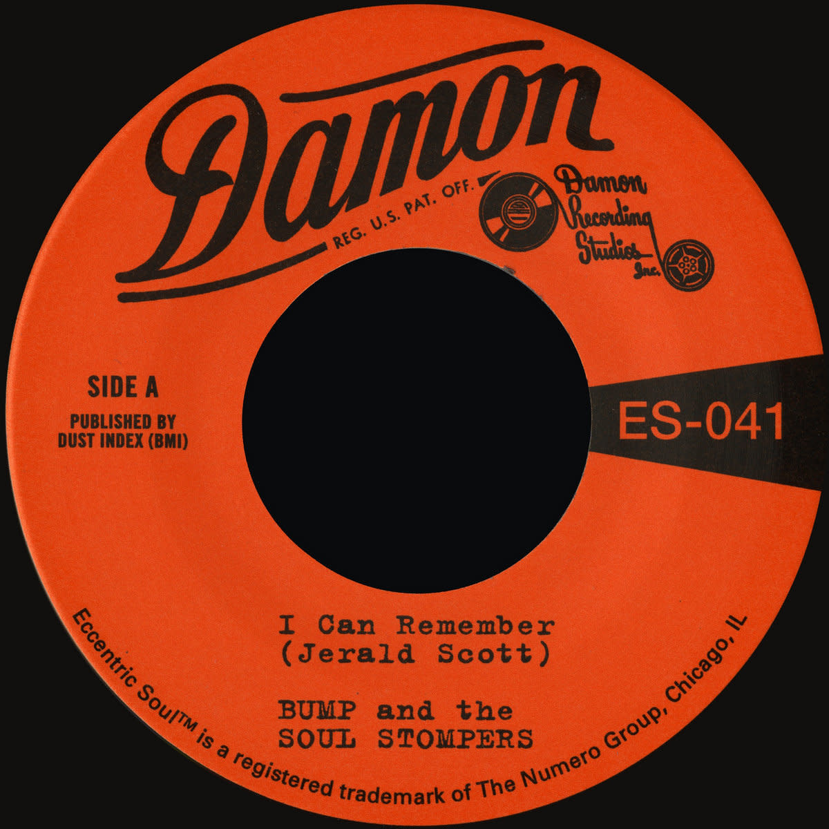 Numero Group Bump and The Soul Stompers - I Can Remember b/w Standing On The Outside