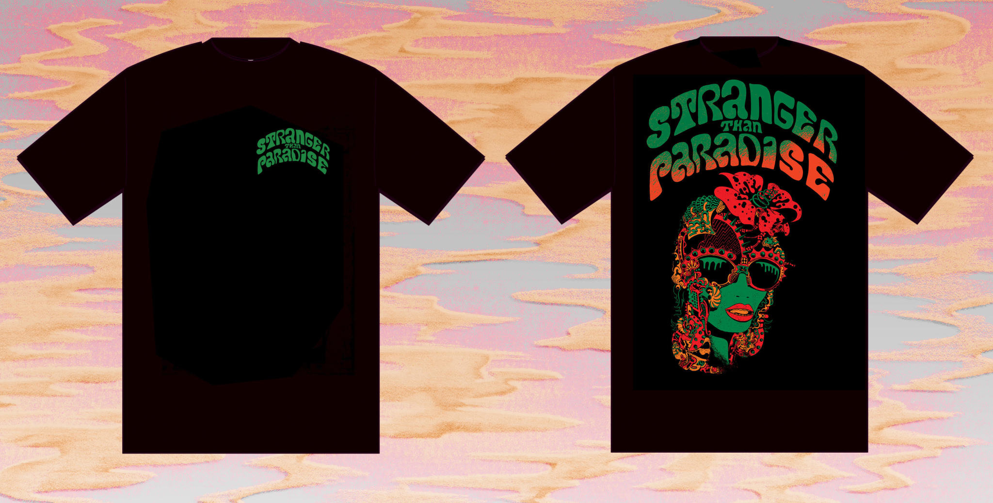 Stranger Than Paradise Records Stranger Than Paradise - Will Sweeney Design Black T-shirt
