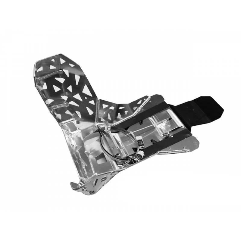 Alu Motor / Krümmerschutz  mit Lappen