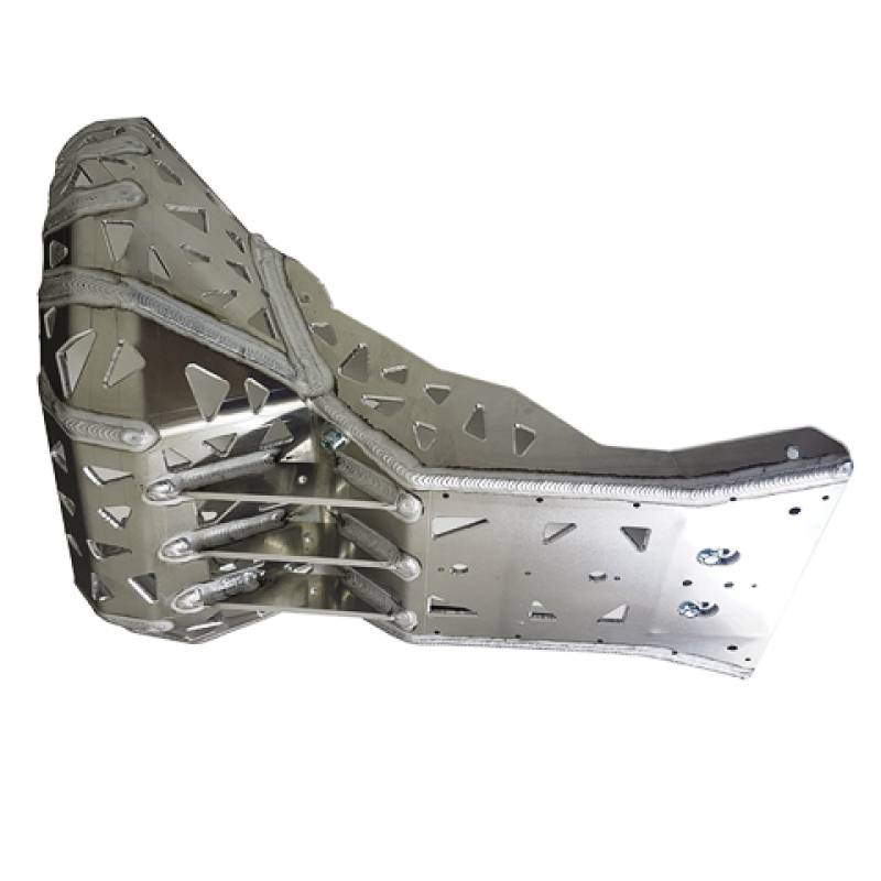 Skid plate with exhaust pipe guard