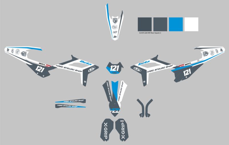 Hard Enduro Shop Dekor Kit Beta 2020-