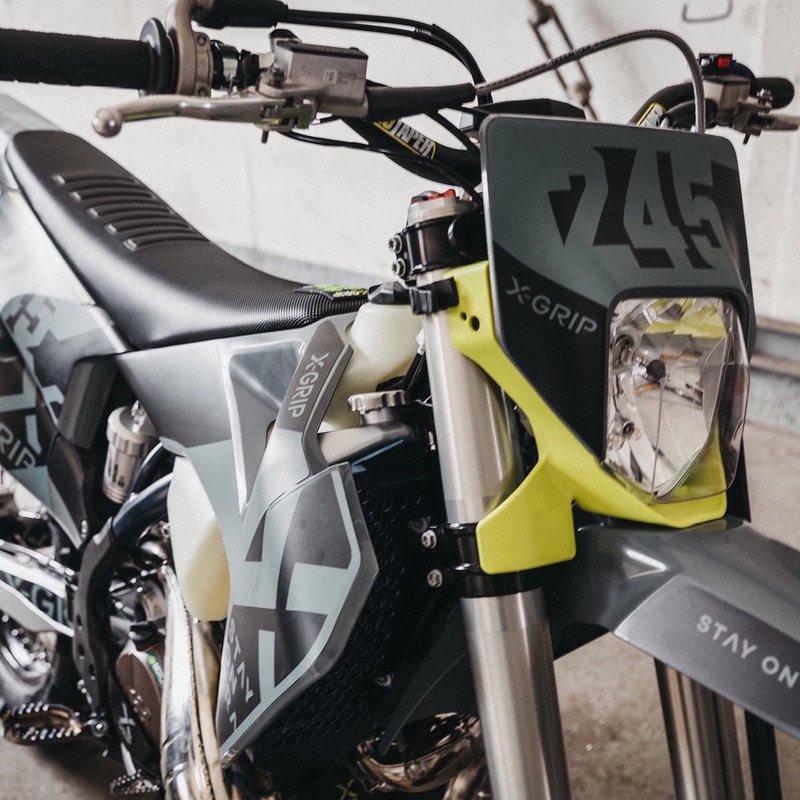 X-GRIP Dekor Kit Husqvarna #20  Grau Matt