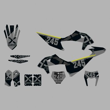 X-GRIP Dekor Kit KTM #20 Grau Matt
