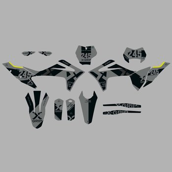 X-GRIP Dekor Kit  GasGas #20 Grau Matt