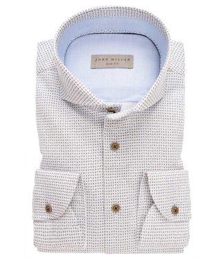 John Miller overhemd slim fit  print 5136892-550