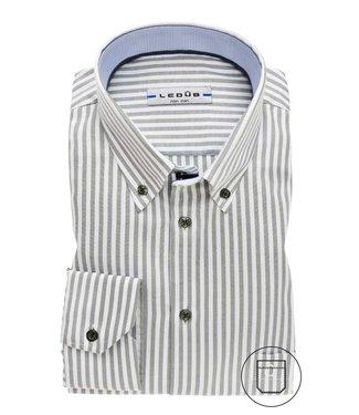 Ledûb overhemd tailored fit streep 0138163-550