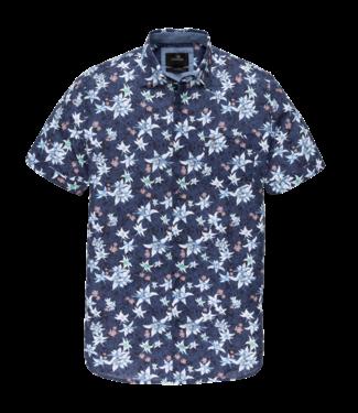 Vanguard printed overhemd blauw VSIS202232-5026
