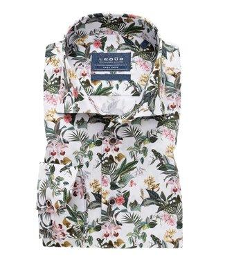 Ledûb overhemd tailored fit print 0138920-910