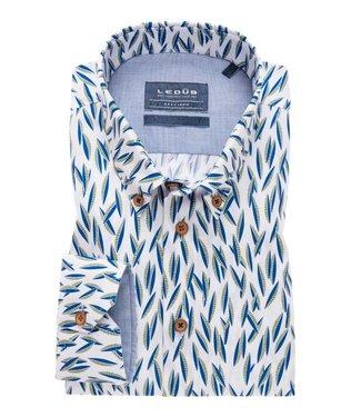 Ledûb overhemd tailored fit print 0138868-540