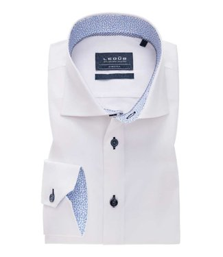 Ledûb overhemd tailored fit wit 0138630-910