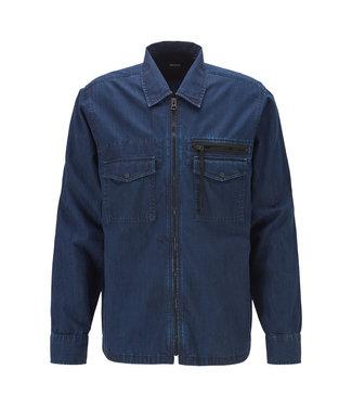 Hugo Boss oversized-fit denim overhemd 50425236-404