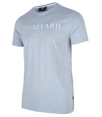 Cavallaro t-shirt Miraco licht blauw 1701005-61000
