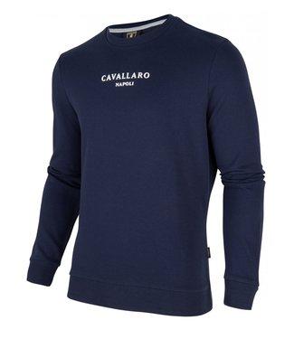 Cavallaro Sweater logo donkerblauw 2001004-63000
