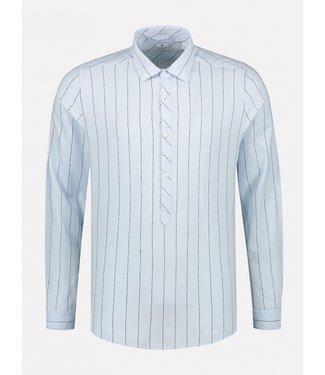 Dstrezzed gestreept overhemd l.blauw 303326-646